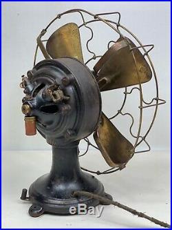 12 Antique Interior Conduit Electric Desk Fan
