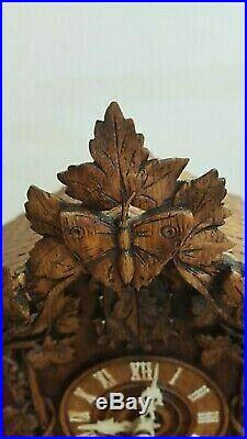 1870's Black Forest Antique Beha Shelf Cuckoo Clock Germany Model 509