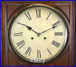 1874 Antique Ithaca No. 2 Regualator Hanging Bank Perpetual Calendar Wall Clock