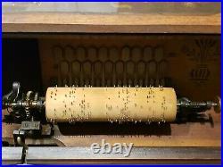 1887 CONCERT ROLLER ORGAN Hand Crank Victorian Music Box Plays Yankee Doodle
