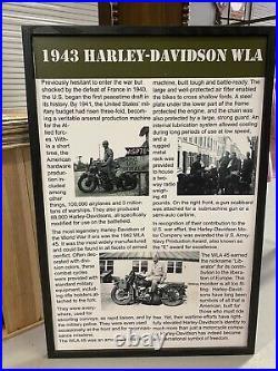 1941 & 1943 WWII Harley Davidson WLA WWII Type Trailer Original Mint Antique