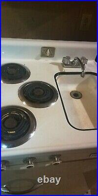 1950s Vintage CRANE Chef Kitchenette LK Series 3-IN-1 Stove/Sink/Fridge