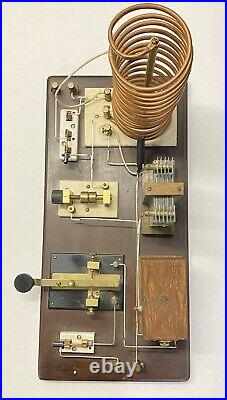 ANTIQUE HOME BREW SPARK TRANSMITTER TUBE RADIO FROM 1920s Marconi Era $9.99