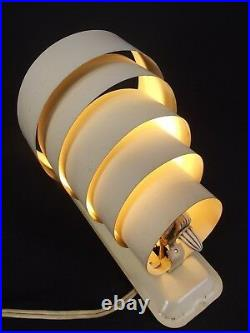 ART DECO Wall Sconce antique ORBITAL RINGS metal and bakelite 1930's light lamp