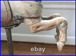 Antique 1880's Collectable Handcarved/Glass Eyes Carousel Galloping Horse