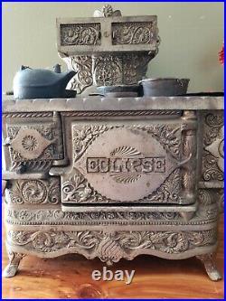 Antique 1895 Cast Iron Stove Eclipse Salesman Sample Victorian Oven 16.5 x 8.25