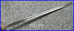 Antique 18th Cen British Pattern 1796 Steel Officers Dress Small Sword