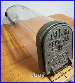 Antique 1905 Karl Panay Show Jar Glass Candy Dispenser Store Display