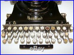 Antique 1917 Hammond Multiplex Vintage Typewriter Italic print shttle