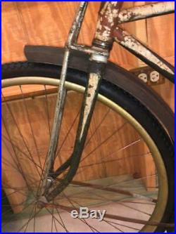Antique 1918 HARLEY DAVIDSON Motocyke BICYCLE vintage original paint teens
