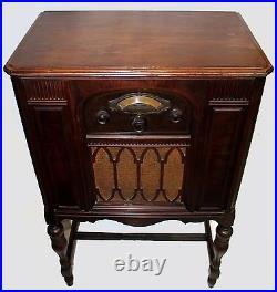 Antique 1931 Atwater Kent Cabinet Radio Art Deco