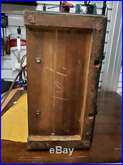 Antique 1935 Zenith Chrome Front S829 Tombstone Tube Radio