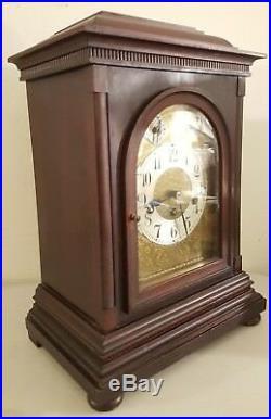 Antique 19th C. JUNGHANS Mahogany Westminster Chime Bracket Mantel Shelf Clock