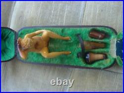 Antique 19th Century Hand-Carved Warrior Meerschaum Smoking Pipe Nude