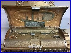 Antique 20th Century Brass National Cash Register