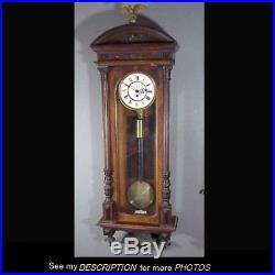 Antique Austrian 1 Weight Vienna Regulator Clock