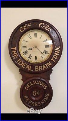 Antique Baird Coca Cola Clock Circa 1890! Price Reduced! Awesome