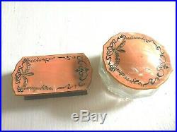 Antique Bakelite pearlescent scrollwork vanity set 12 piece set