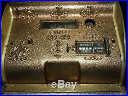 Antique Brass National Cash Register Model 312 Candy Or Barber Shop Nice