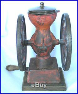 Antique CAST IRON Enterprise COFFEE GRINDER MILL Philadelphia USA 1873