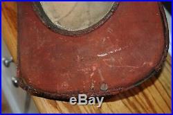Antique Cairns & Brother Leather High Hat #6 Fireman Fire Helmet Massachusetts