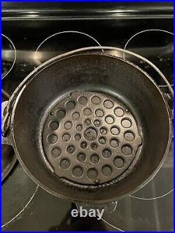 Antique Cast Iron Griswold No. 8 Tite-Top Dutch Oven, Lid & Trivet (1920s) RARE