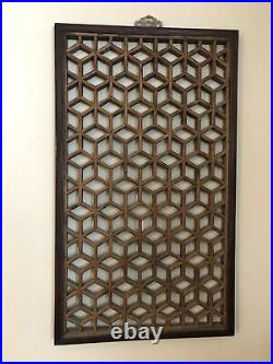 Antique Chinese Wooden Window Screen Panel Art