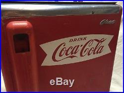 Antique Coca Cola Glasco Ice Box Soda Bottle Refrigerator Mid Century Cooler