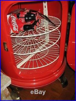 Antique Coca Cola Round Ice Soda Box Cooler Professionally Restored White Frost