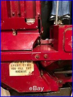 Antique Coin Op Pulver Gum Machine