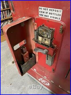 Antique Coke Cooler Machine Vendo H110 Working