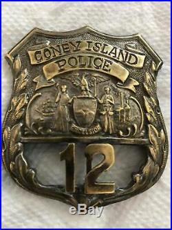 Antique Coney island police badge BROOKLYN NEW YORK