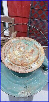 Antique DIETZ PIONEER Hanging tubular lantern kerosene street STATION lamp