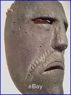 Antique, Danced, Ethnographic, Wooden Mask, Cuetzalan, Puebla Mexico EL NEGRTIO