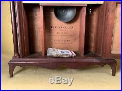 Antique Eli Terry and Sons Pillar & Scroll c1825 Mantel Clock Original Glass