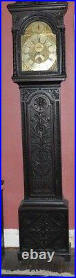 Antique English Tall Case Grandfather clock C. 1740, James Webster