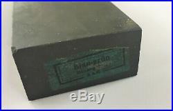 Antique Escher & Co 10 Inch Water Razor Hone Sharpening Stone in Box