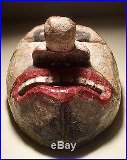 Antique, Ethnographic, Danced Wooden Mask, Lombok Java Indonesia, Topeng Dance