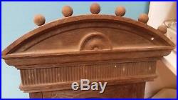 Antique Fire Alarm Wood Cased Firestation Brass Gong Alarm HUGE 3' w 14 BELL