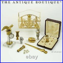 Antique French Enamel Multiple Wax Seal Set, Palais Royal Sceau Cachet Etui