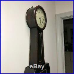 Antique George Hatch Round Bottom Weight Banjo Clock C 1860 $300 PRICE DROP