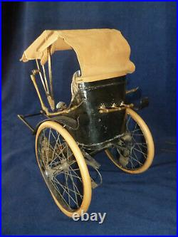 Antique German Blue Santa Horse & Carriage 23 Store Display Candy Container