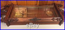 Antique Gilbert Regulator No 3 Wall Clock 1870s Rosewood Case Time Only