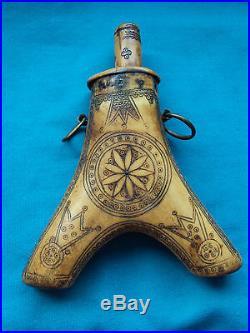 Antique Gun Powder Horn, Transylvania, 17th century
