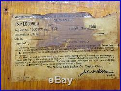 Antique NATIONAL CASH REGISTER 1915 Class 300-700 15 Key Classic Rare