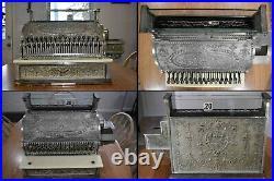 Antique NATIONAL CASH REGISTER FOR RESTORATION MODEL #1024617 856-G