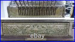 Antique National Cash Register Model 332 Bronze, Original Un-restored condition