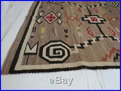 Antique Navajo Indian Wool Rug /Blanket, Circa 1917, Bows and Arrows