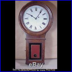 Antique Oak E Howard No 70 Wall Regulator Clock