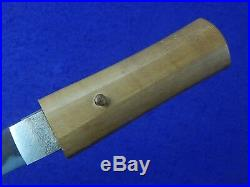Antique Old Japan Japanese Tanto Fighting Knife with Scabbard Papers